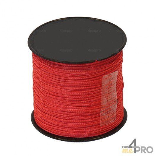 Cordeau nylon rouge Ø1mm