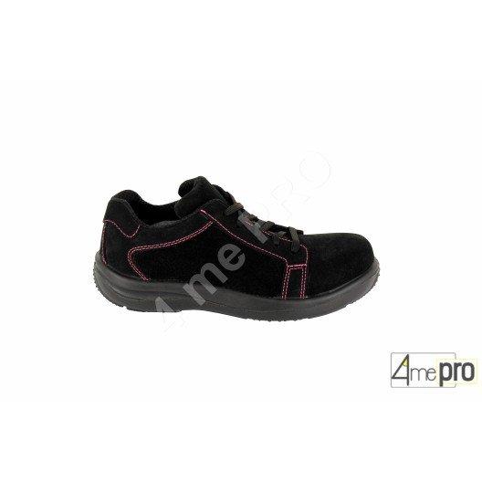 Zapatos de seguridad mujer Pink bajos - normas S1P/SRA