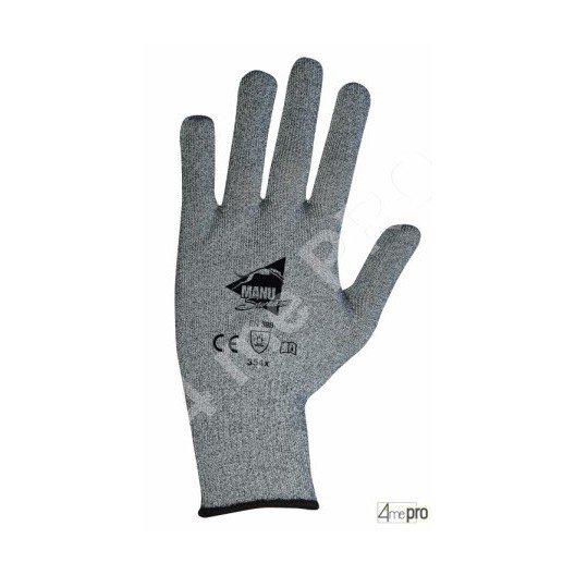 Guantes anticorte con puntillas PVC negros - soporte compuesto gris - Norma EN 388 354x