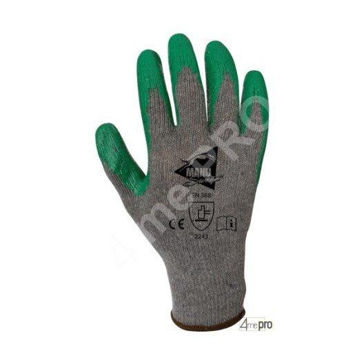 Guantes de manutención pesada - nitrilo verde en soporte polyester reciclado - Norma EN 388 2243