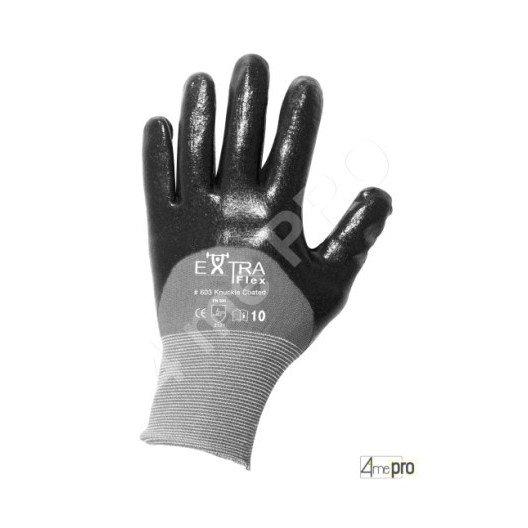 Guantes de manutención - nitrilo HCT negro en soporte nylon - Norma EN 388 3121
