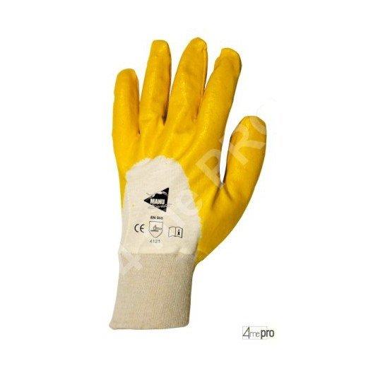 Guantes de manutención - nitrilo amarillo en soporte interlock - Norma EN 388 4121