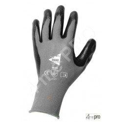 Guantes de manutención - nitrilo mousse negro en soporte nylon negro - Norma EN 388 4121