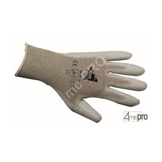 Guantes de manutención fina - poliuretano antiestático en soporte nylon - normas EN 388 4131 / EN 1149-1