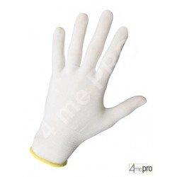 Guantes de manutención fina ambidextro - sin revestimiento - soporte nylon extra fin blanco