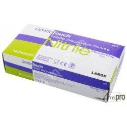 Caja de 100 guantes desechables en nitrilo sin polvo - Norma EN 455