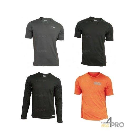 Camiseta de poliéster CoolDry mangas cortas/largas - Tamaño S a XXXL