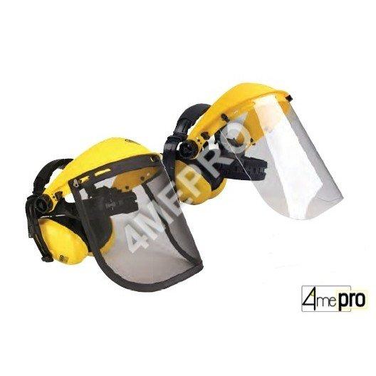 Visera de protección con orejeras - normas EN 352-1/EN 166 3B/EN 1731 F