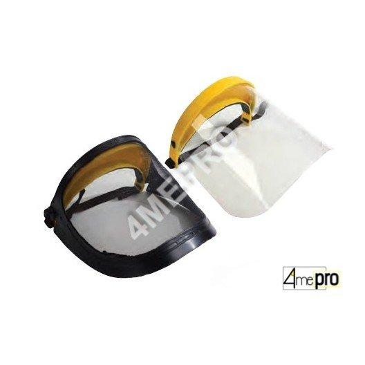 Visera de protección facial de malla de acero o de policarbonato - norma EN1731S/EN1661S
