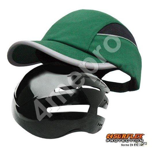 Gorra de seguridad Todas estaciones verde NF EN812 A1