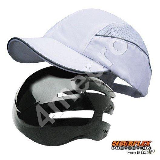 Gorra de seguridad Todas estaciones blanca NF EN812 A1