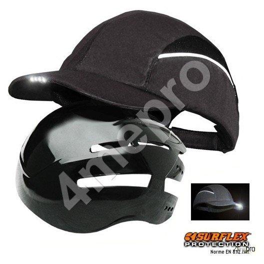 Gorra de seguridad con Led negra NF EN812 A1