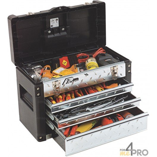 Caja de herramientas profesional con cajones 57 x 29 x 40,6 cm