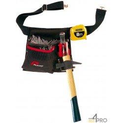 Cinturón de carpintero portaclavos, porta-cinta métrica y portamartillo