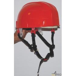 Casco de seguridad forestal rojo con yugular EN 397 - Trabajos en altura