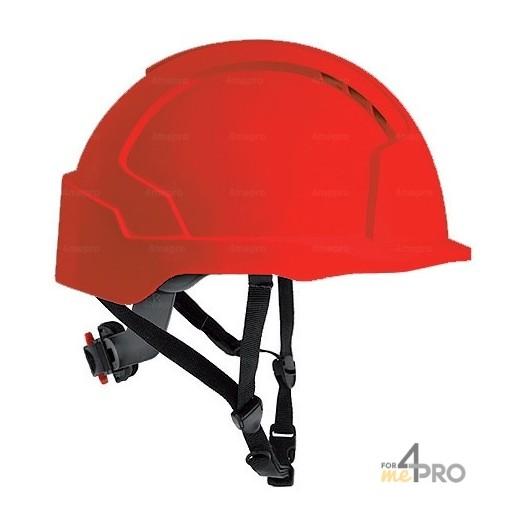 Casco de seguridad rojo para trabajos en altura - EN 397